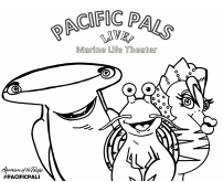 Pacific Pals character outlines