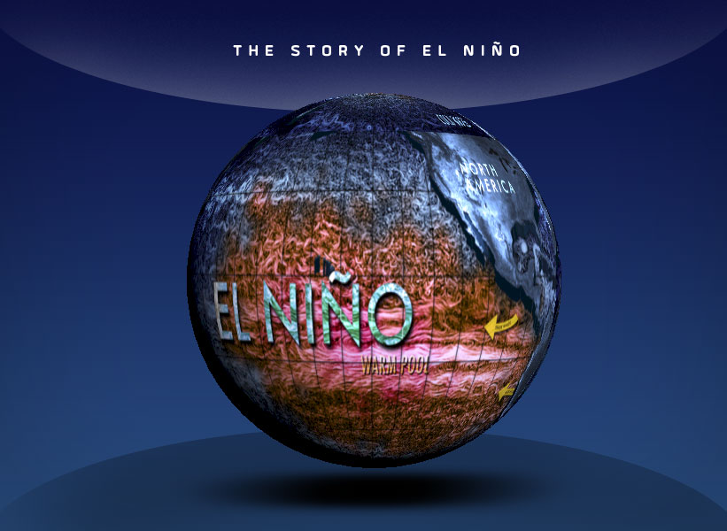 globe showing el nino