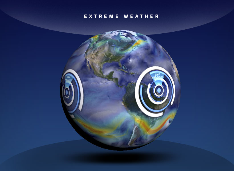OSC Show - Extreme Weather - globe showing weather