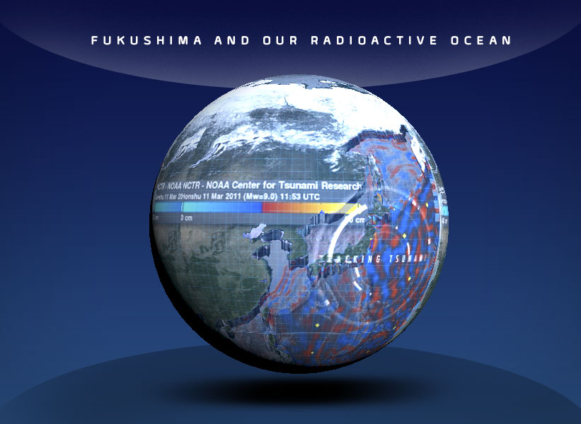 globe showing fukushima