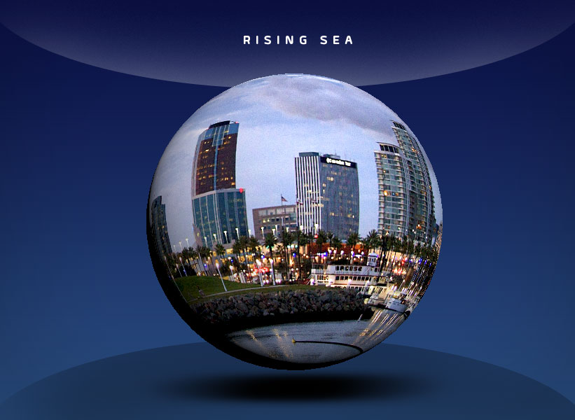globe with image of buildings
