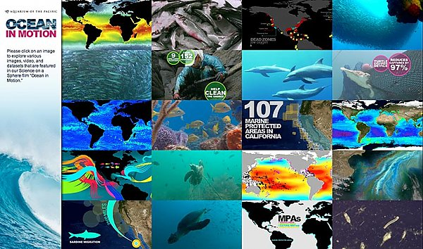 collage of ocean and map images