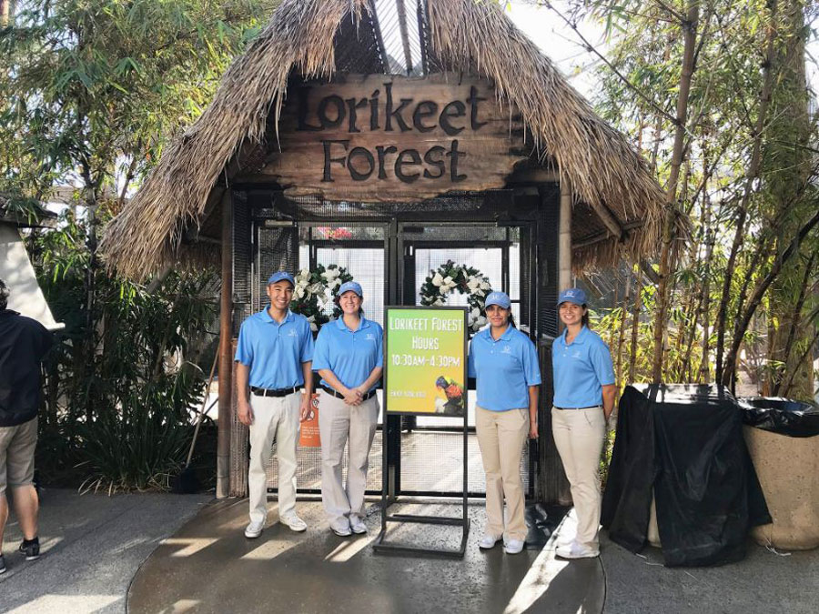 Helpful Honda people welcome guests at Lorikeet Forest